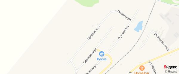 Луговая улица на карте села Черниговки Приморского края с номерами домов