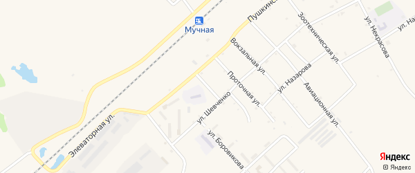 Короткий переулок на карте села Черниговки Приморского края с номерами домов