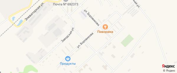 Улица Боровикова на карте села Черниговки Приморского края с номерами домов