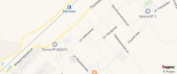 Проточная улица на карте села Черниговки Приморского края с номерами домов