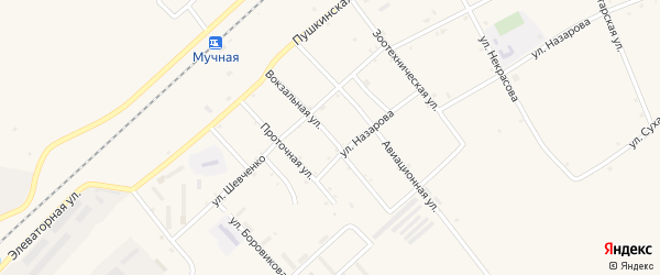 Вокзальная улица на карте села Черниговки Приморского края с номерами домов