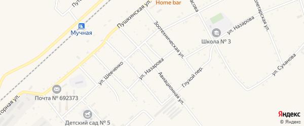Авиационная улица на карте села Черниговки Приморского края с номерами домов