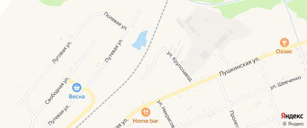 Железнодорожная улица на карте села Черниговки Приморского края с номерами домов