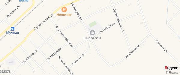 Улица Назарова на карте села Черниговки Приморского края с номерами домов