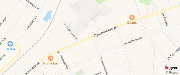 Пушкинская улица на карте села Черниговки Приморского края с номерами домов