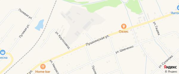 Рабочий переулок на карте села Черниговки Приморского края с номерами домов