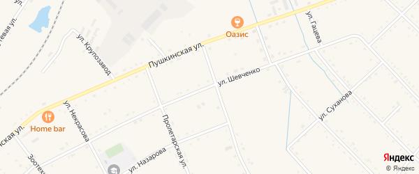 Улица Шевченко на карте села Черниговки Приморского края с номерами домов