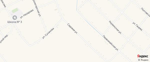 Садовая улица на карте села Черниговки Приморского края с номерами домов
