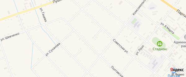Строительная улица на карте села Черниговки Приморского края с номерами домов
