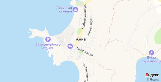 Прибойная улица в СНТ Дачное некоммерческое товарищество Анна в Находке с номерами домов на карте. Спутник и схема онлайн