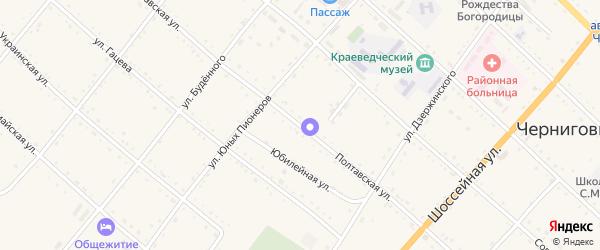 Полтавская улица на карте села Черниговки Приморского края с номерами домов