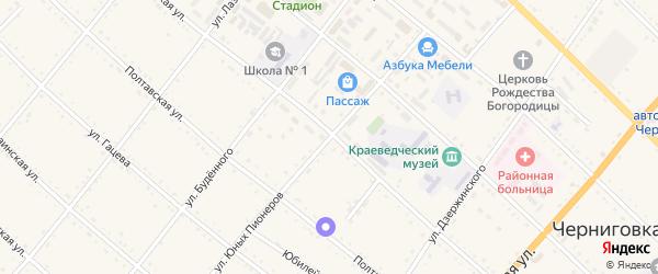 Улица Юных Пионеров на карте села Черниговки Приморского края с номерами домов