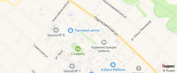 Улица 8 Марта на карте села Черниговки Приморского края с номерами домов