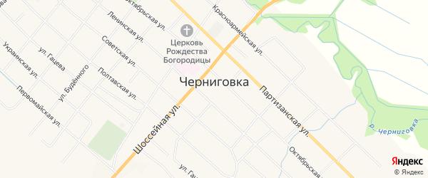 Карта села Черниговки в Приморском крае с улицами и номерами домов