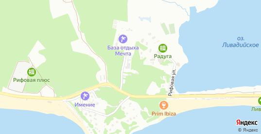 Рифовая улица в микрорайоне Ливадия в Находке с номерами домов на карте. Спутник и схема онлайн