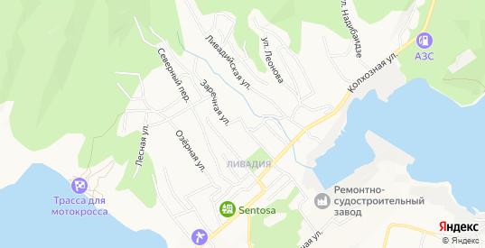 Карта микрорайона Ливадия в Находке с улицами, домами и почтовыми отделениями со спутника онлайн