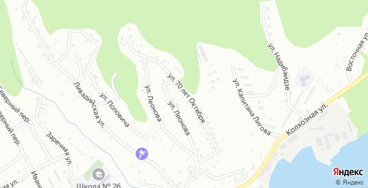Улица 70 лет Октября в микрорайоне Ливадия в Находке с номерами домов на карте. Спутник и схема онлайн
