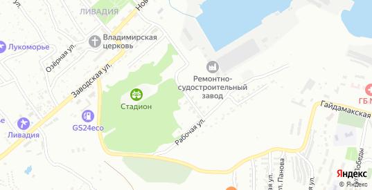 Весенняя улица в микрорайоне Ливадия в Находке с номерами домов на карте. Спутник и схема онлайн