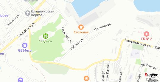Рабочая улица в микрорайоне Ливадия в Находке с номерами домов на карте. Спутник и схема онлайн