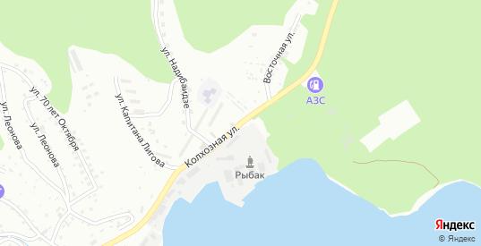 Колхозная улица в микрорайоне Ливадия в Находке с номерами домов на карте. Спутник и схема онлайн