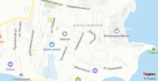 Сейнерная улица в микрорайоне Ливадия в Находке с номерами домов на карте. Спутник и схема онлайн