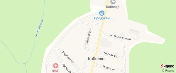 Таежная улица на карте села Коболдо Амурской области с номерами домов