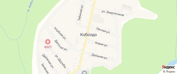 Зеленая улица на карте села Коболдо с номерами домов