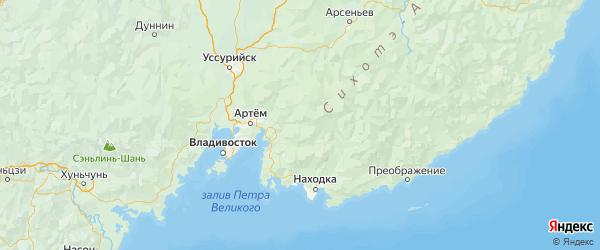 Карта Шкотовского района Приморского края с городами и населенными пунктами