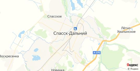 Карта Спасска-Дальнего с улицами и домами подробная. Показать со спутника номера домов онлайн