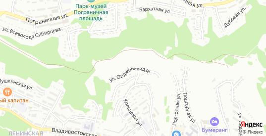 Улица Орджоникидзе в Находке с номерами домов на карте. Спутник и схема онлайн