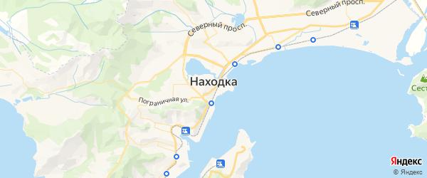 Карта Находки с районами, улицами и номерами домов