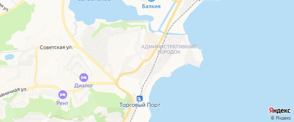 Территория ГСК Верхний-1 на карте Находки с номерами домов