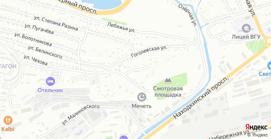 Гоголевский переулок в Находке с номерами домов на карте. Спутник и схема онлайн