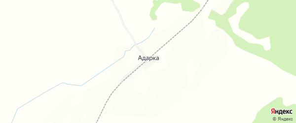 Карта железнодорожной станции Адарки в Приморском крае с улицами и номерами домов