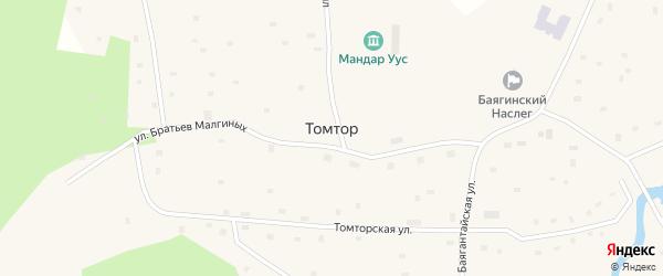 Улица Луковцева Е.И. на карте села Томтор Якутии с номерами домов