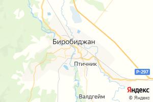 Карта г. Биробиджан Еврейская автономная область