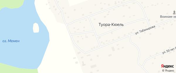 Улица Братьев Алексеевых на карте села Туоры-Кюели Якутии с номерами домов
