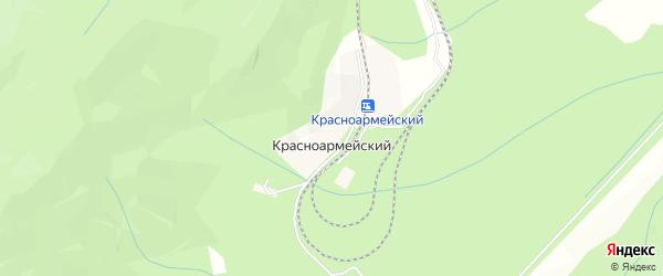 Карта Красноармейского железнодорожного разъезда города Партизанска в Приморском крае с улицами и номерами домов