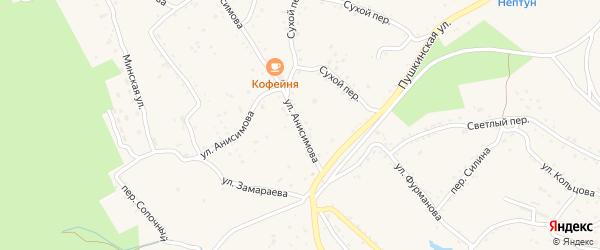 Улица Анисимова на карте Партизанска с номерами домов