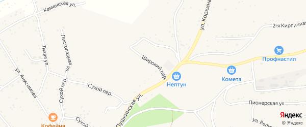 Широкий переулок на карте Партизанска с номерами домов