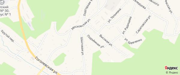 Подъемная улица на карте Партизанска с номерами домов