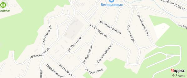 Улица А.Н. Радищева на карте Партизанска с номерами домов