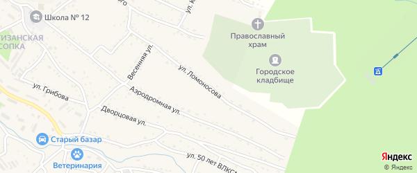Улица М.В. Ломоносова на карте Партизанска с номерами домов