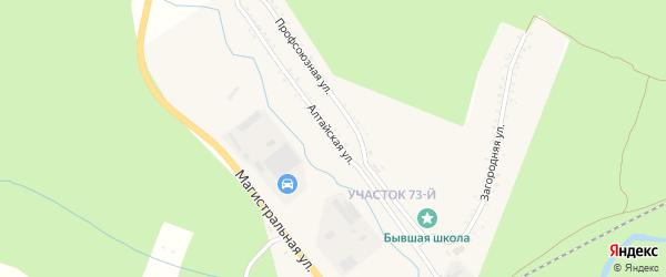 Алтайская улица на карте Партизанска с номерами домов