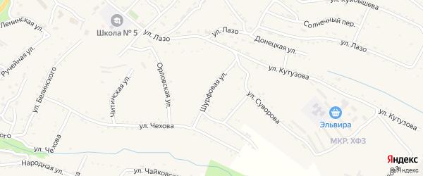 Шурфовая улица на карте Партизанска с номерами домов