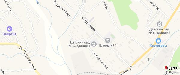 Улица Лермонтова на карте Партизанска с номерами домов
