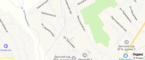 Улица Комарова на карте Партизанска с номерами домов