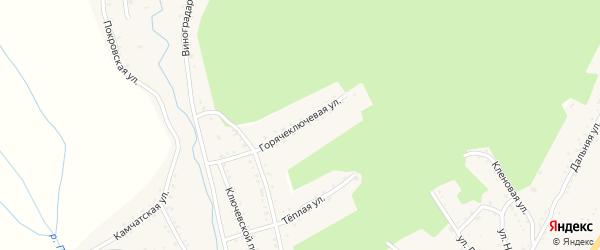 Горяче-Ключевая улица на карте Партизанска с номерами домов
