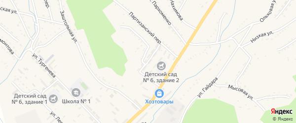 Улица Смена на карте Партизанска с номерами домов