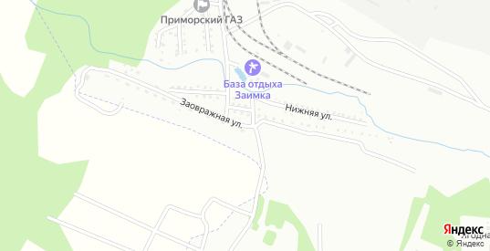 Заовражная улица в Арсеньеве с номерами домов на карте. Спутник и схема онлайн